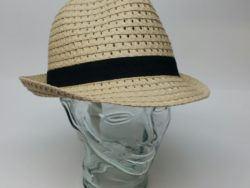 Canadian Hat straw crushable fedora with black band