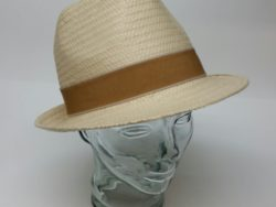 Canadian Hat straw fedora with maple band
