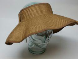 Canadian Hat straw Wide brim visor.