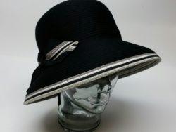 Canadian Hat black deep cloche.