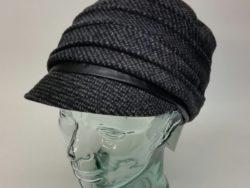 Canadian Hat pleated wool tweed cap