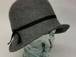 Canadian Hat charcoal cloche