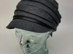 Canadian Hat pleated wool charcoal cap