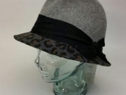Canadian hat ladies leopard print wool fedora