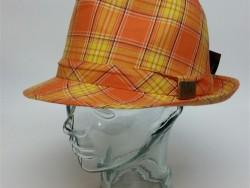 Crown cap plaid fedora