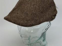Crown cap brown tweed ivy cap