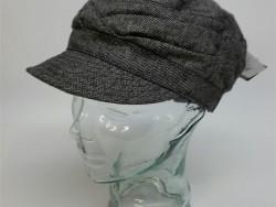 Crown cap tweed ladies cadet hat