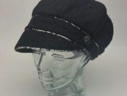 Canadian Hat wool cap with plaid trim