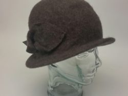 Canadian Hat wool cloche in brown
