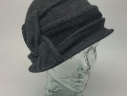 Canadian Hat wool grey cloche with accent