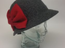 Canadian Hat wool bucket with red bow